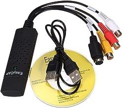 ELectroBot USB 2.0 Easycap Dc60 TV DVD VHS Video Adapter Capture Card Supports Windows Xp/7/Vista 32