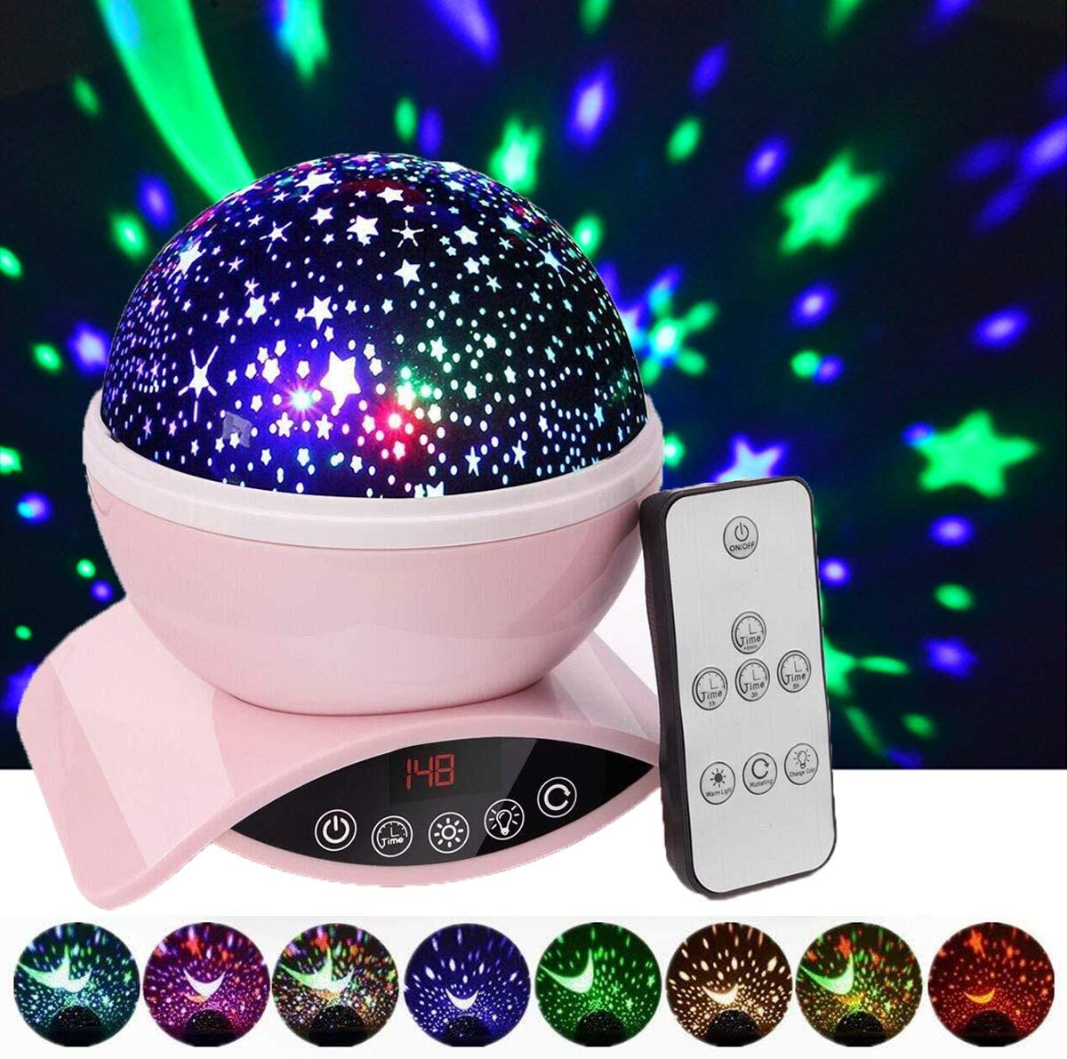 Elecstars Ranking TOP13 Night Lights Rechargeable Projector Industry No. 1 with Remote Star