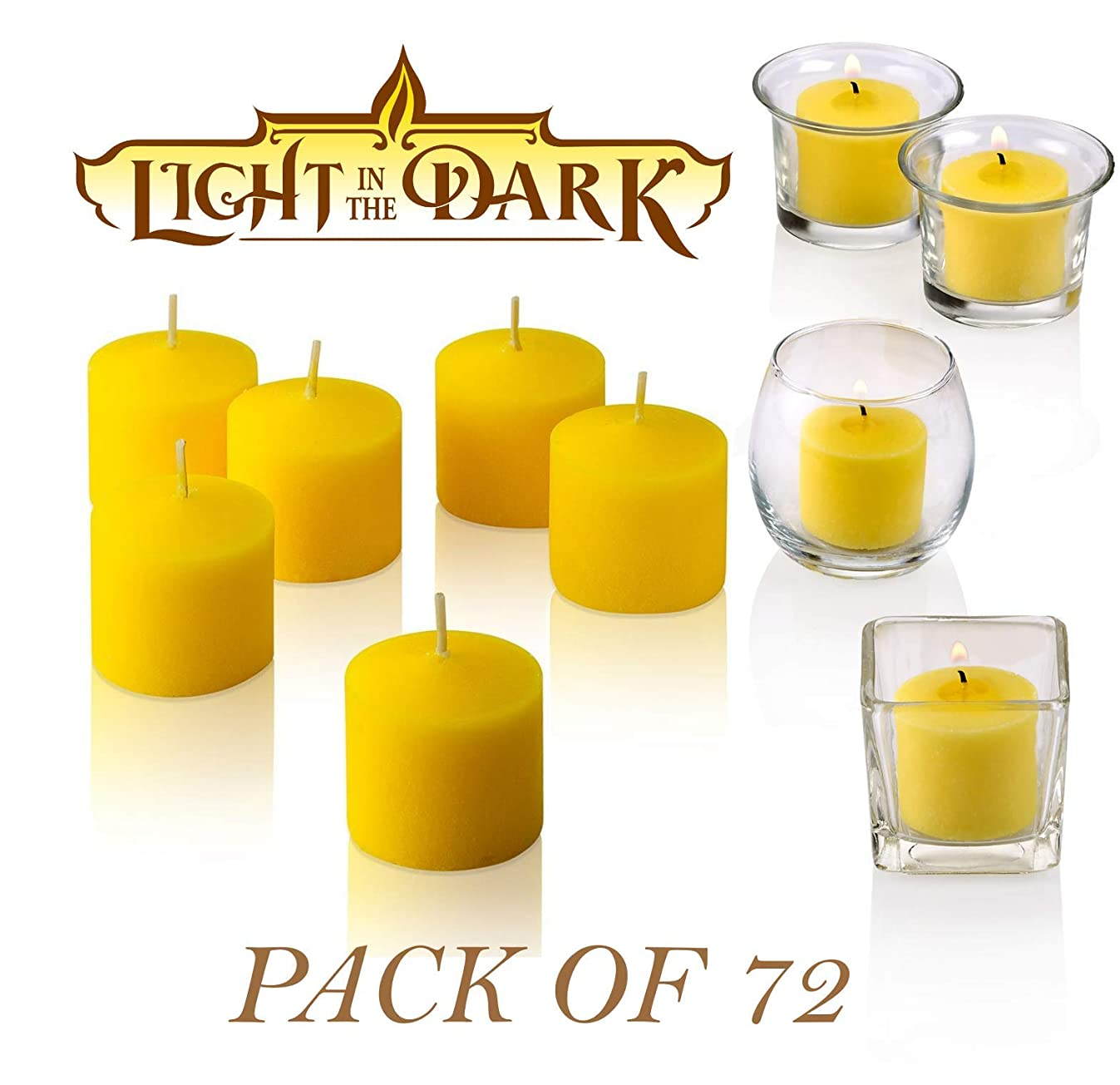Citronella Votive Candle - Pack of 72 - Made from High Scented Citronella to Scare Away Mosquito, Bug and Flies – for Outdoor/Indoor Use - 10 Hour Burn Time - Made in USA