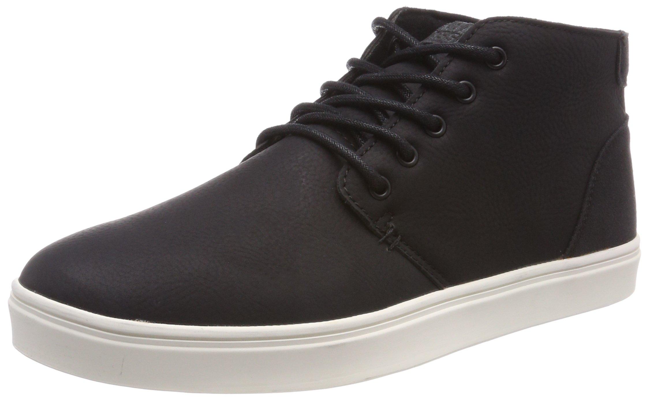 Urban Classics Herren Hibi Mid Shoe Sneaker, Mehrfarbig (Black/White), 39 EU
