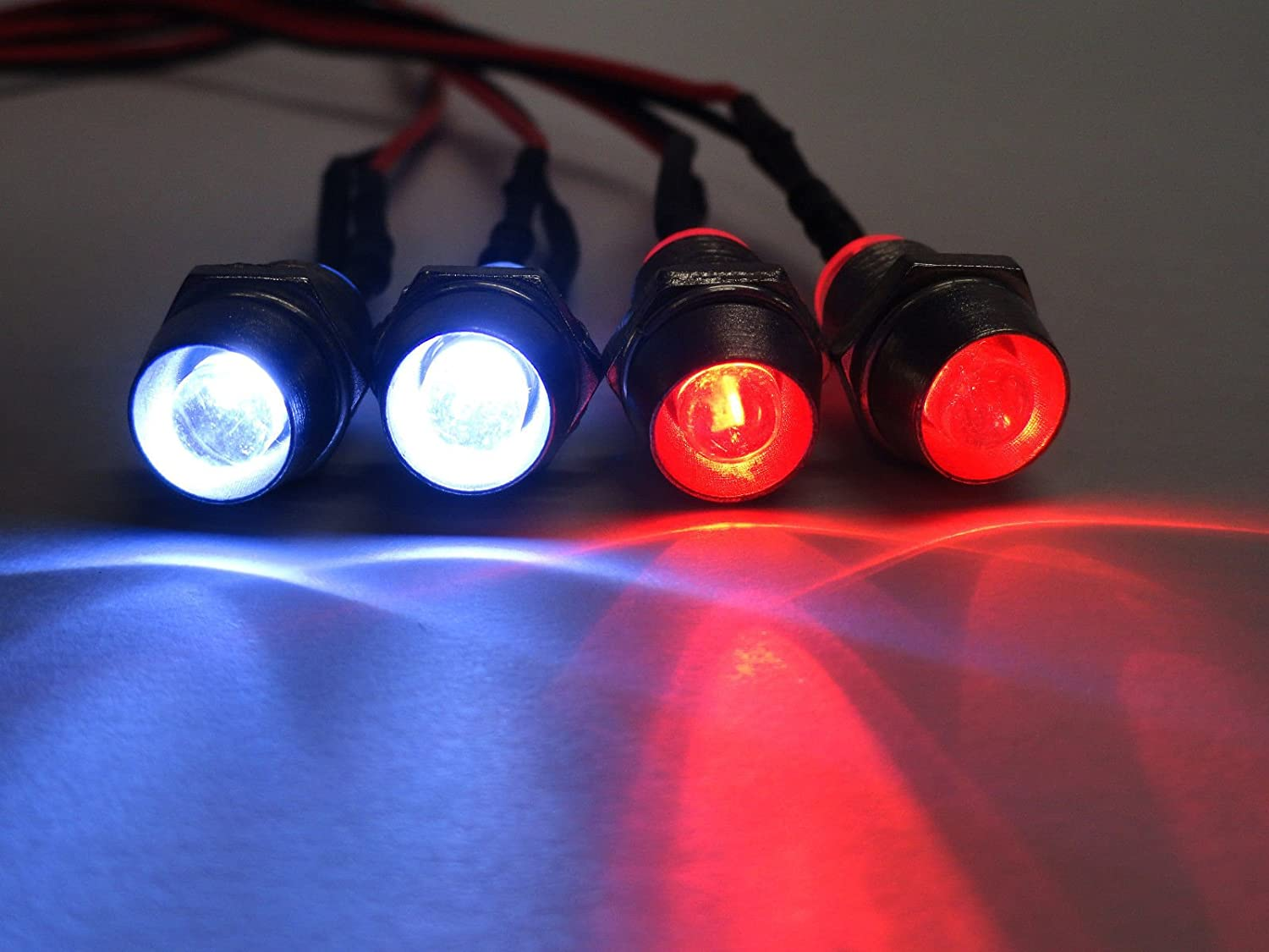 Apex RC Products 4 LED Headlight online shopping Bezels w Max 40% OFF - Kit Taillight Unive