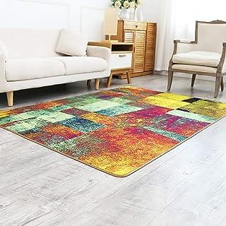 家具装飾敷物マットカーペット大型ランナー敷物モダンな幾何学的なソファコーヒーテーブルリビングルーム寝室ベッドサイド長方形ホームマット(サイズ:80cm130cm)