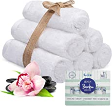Bamboo Baby Washcloths Organic – with A Soft Cotton Blend Perfect for Face Towels, Hands, Sensitive Skin and Newborn - Nat...