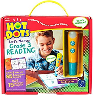 Educational Insights Hot Dots Let's Master 3rd Grade Reading with Talking Pen, Ages 8 and Up, (100 Self-Checking Lessons)