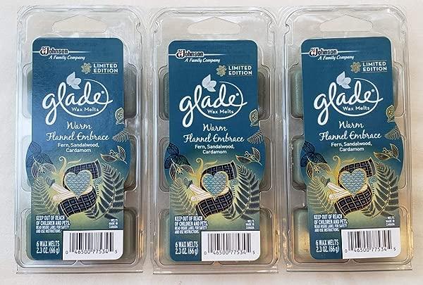 18 Glade Warm Flannel Embrace Wax Melts 3 6 Packs Fern Sandalwood Cardamom