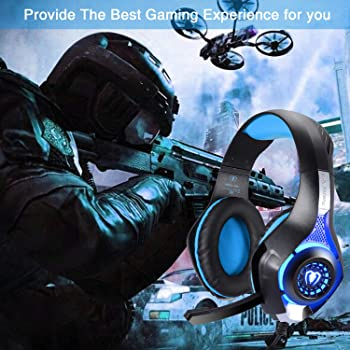 BlueFire Professional 3.5mm PS4 Gaming Headset Headphone with Mic and LED Lights for Playstation 4, Xbox one,Laptop, ...