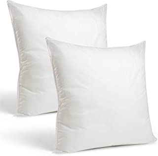 "Rohi Set of 2 Hypoallergic Cushion Inner Pads (Pack of 2) 18"" x 18"" (45cm x 45cm) Cushion Insert Decorative Square Pillow ..."