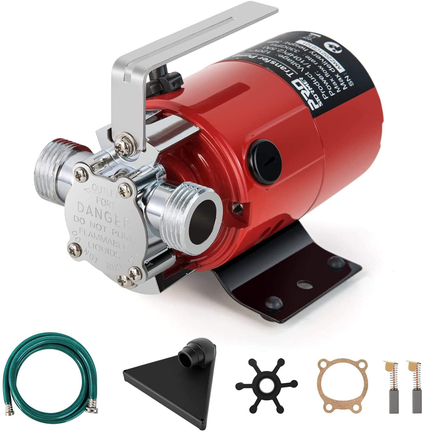 Utility Pump, PROSTORMER Electric 1/10HP 120V Mini Portable Water Transfer Pump 330 GPH with Water Hose Kit