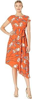 Donna Morgan Women's Floral Asymmetrical Dress