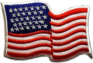 /Écusson brod/é Ecussons Imprim/és Ecussons Thermocollants Broderie Sur Vetement Ecusson Drapeaux Am/érique Drapeau USA Flag Patch  7,9 x 5,5 cm