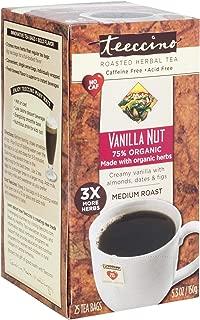 Teeccino Herbal Coffee, Vanilla Nut, Caffeine-Free, 25-Count Tea Bag