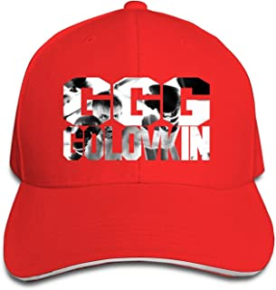 23ac1681 BestSeller Unisex Gennady Golovkin GGG Peaked Adjustable Baseball Caps Hats  Red