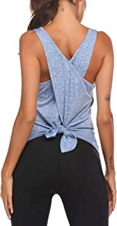 COOrun Open Back Workout Tank Tops for Women Gym Exercise Athletic Yoga Tops