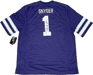 Bill Snyder Autographed Jersey - #1 Purple Nike - JSA Certified - Autographed College Jerseys