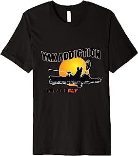 Kayak Fishing Gear Shirts Yak Addiction Rack Net Paddle Gift