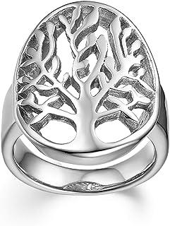JewelryWe Acciaio Inossidabile Anello Anelli Anelli di Punta Anello di Coda Tono Argento L'Albero della Vita Donna Uomo Re...