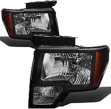 DNA Motoring HL-OH-F1509-BK-AM Headlight Assembly, Driver & Passenger Side