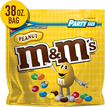 M&M'S Peanut Chocolate Candy Party Size 38-oz. Bag
