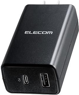 エレコム ノートPC向けACアダプター PD準拠 57W Type-C USB-C1ポート USB-Aメス1ポート コンパクト ブラック ACDC-PD1757BK
