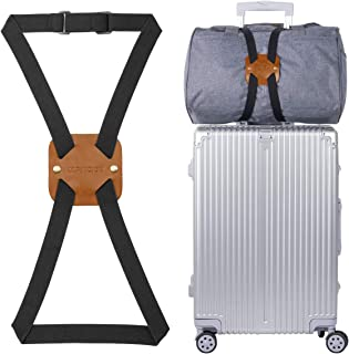 Bag Bungee, Luggage Bungee - Luggage Straps Suitcase Adjustable Belt - an Adjustable and Portable Travel Suitcase Accessory (1-Pack,Brown)