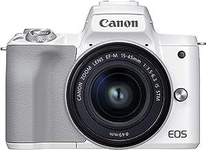Canon EOS M50 Mark II + EF-M 0.591-1.772in es STM Kit Blanco