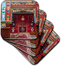3dRose CST_208866_2 Buddhist Temple Namche Bazaar, Nepal-Soft Coasters, Set of 8