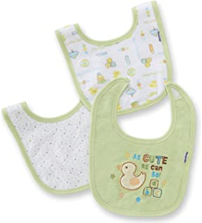 Gerber Interlock Dribber Bib, 3 Pack, Neutral