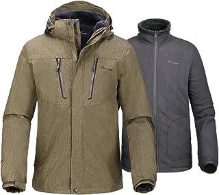 254202c272 OutdoorMaster Men s 3-in-1 Ski Jacket - Winter Jacket Set with Fleece Liner