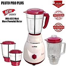 ACTIVA 650 WATTAGE Full ABS Shock Proof Body Pluto PRO Plus 4 Jars Mixer Grinder (White)