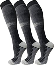 Copper Compression Socks for Men & Women(3 Pairs),15-20mmHg is Best for..