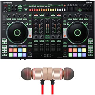 Roland DJ-808 4-Channel DJ Controller for Serato DJ Includes Free Wireless Earbuds - Stereo Bluetooth In-ear Earphones
