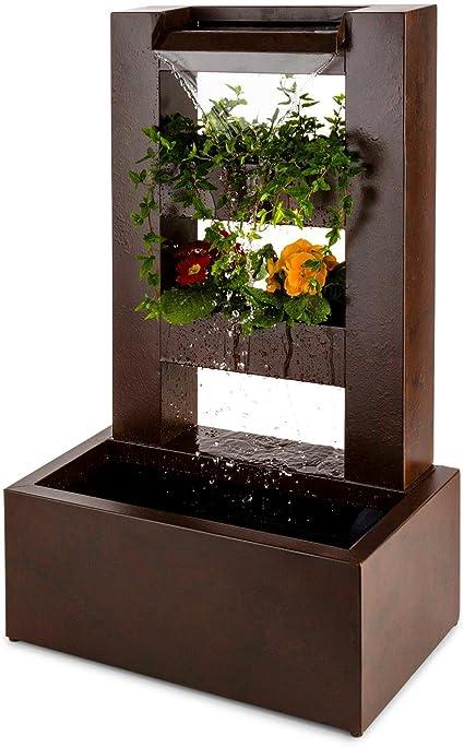 Blumfeldt Watergate • Fontaine de Jardin • Fontaine décorative • Intérieur extérieur • Circulation de 1000 l//h • Pompe de 15 Watts • Métal galvanisé • Indice de Protection IPX8 • Gris
