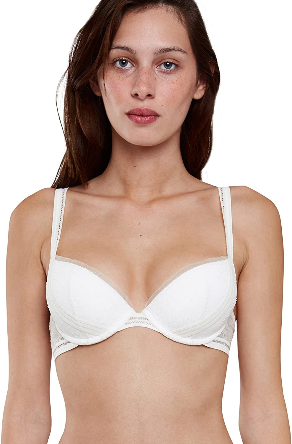 Maison Lejaby 16431801 Women's Miss Lejaby Lily White Lace Push Up Bra