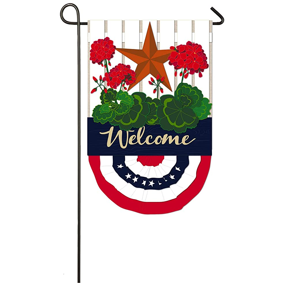 Evergreen Flag Patriotic Bunting Burlap Garden Flag o313014316