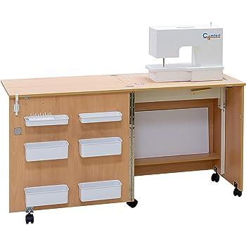 Comfort 1 | Mesa para máquina de coser | (Beech Ellmau, M (Air-Lifter to 10kg)): Amazon.es: Hogar