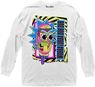 Ripple Junction Rick and Morty Adult Unisex Wubba Lubba Dub Dub Skate Graphic 100% Cotton Long Sleeve Crew T-Shirt