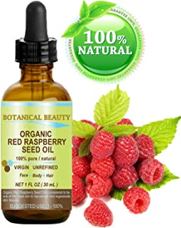 RED RASPBERRY SEED OIL ORGANIC. 100% Pure / Natural / Undiluted / Virgin / Unrefined Cold Pressed Carrier Oil. 1 Fl.oz.-30 ml. For Skin, Hair, Lip and Nail Care.