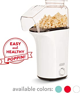 Dash DAPP150V2WH04 Hot Air Popcorn Popper Maker with Measuring Cup to Portion Popping Corn Kernels + Melt Butter, 16, White