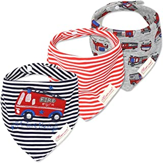 3-Pack Newborn Baby Bibs Baby Bandana Drool Bibs for Drooling and Teething,Organic Cotton Bibs for Baby Shower Gifts