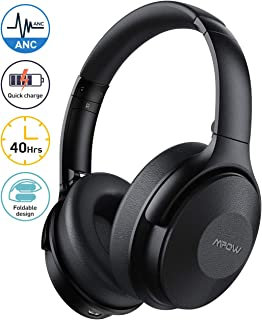 Mpow Active Noise Cancelling Headphones, [2020 Version] Bluetooth Headphones Over Ear..