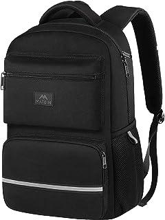 MATEIN Student Backpack for Boys, Lightweight Waterproof School Bookbag for Boys Girls Children Black Black 15 inch