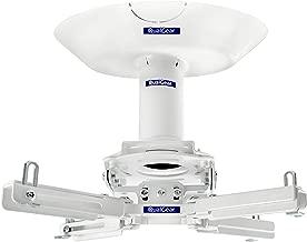 QualGear Pro-AV QG-KIT-CA-3IN-W Projector Mount Kit Accessory Single Joist Ceiling Adapter, 3
