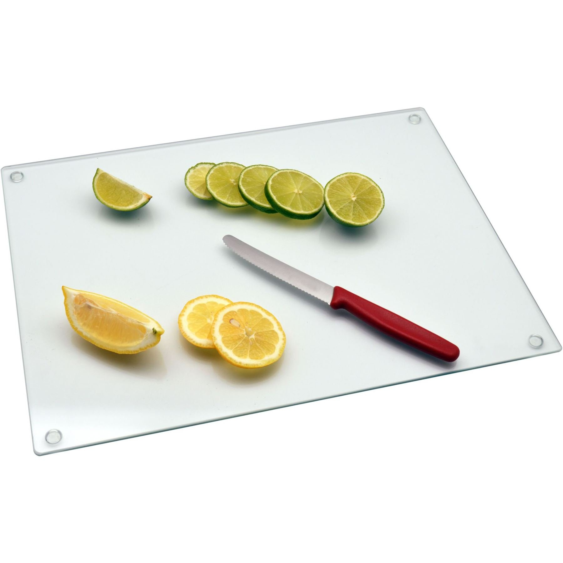 Clear Frosted Glass Large Kitchen Worktop Saver Protector Premium Glass Chopping Board