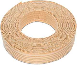 7/8 Inches (22mm) Real Pine Iron-On Edge Banding – 25 Foot (7.5 Meter) Roll – Pre-Glued Wood Veneer Tape for Easy DIY Application – Will Cover The Edge of a Standard MDF Panel