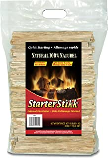 Pine Mountain STO StarterStikk 100% Fatwood, 10 Pound Resealable Poly Bag Natural Firestarting Sticks Campfire, Fireplace, Wood Stove, Fire Pit, Indoor & Outdoor
