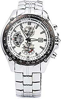 Men's Quartz Casual Movement Watch Stainless Steel Band Date Stylish Wrist Watch