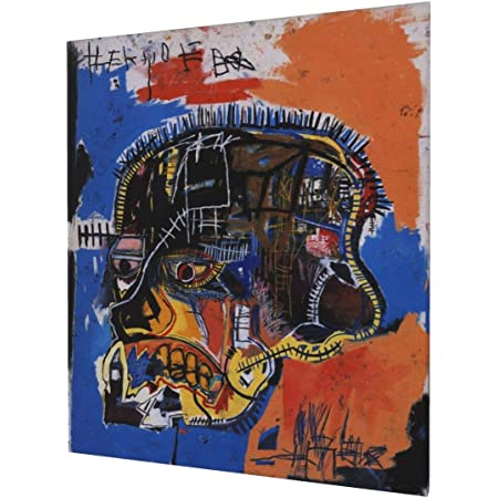 Jean-Michel Basquiat and Andy Warhol LOGO HD print on Canvas ready to hang large wall Picture or Hand painted oil Painting 32x24 inches
