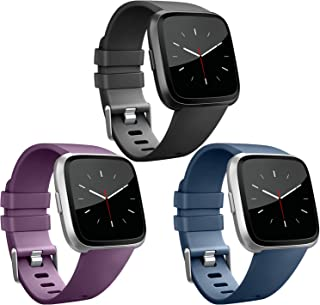 Vancle Band Compatible with Fitbit Versa Bands & Fitbit Versa Lite SE Bands, Classic Accessories Wristbands for Fitbit Ver...
