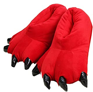 Zapatillas de casa de Felpa Suave Unisex Animal Disfraz de Pata de Garra