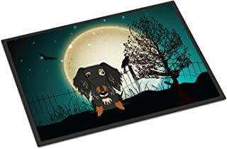 Caroline's Treasures BB2318MAT Halloween Scary Wire Haired Dachshund Dapple Indoor or Outdoor Mat 18x27, 18H X 27W, Multic...